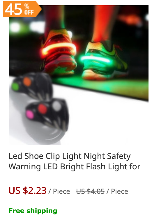 Glowing Shoe clips