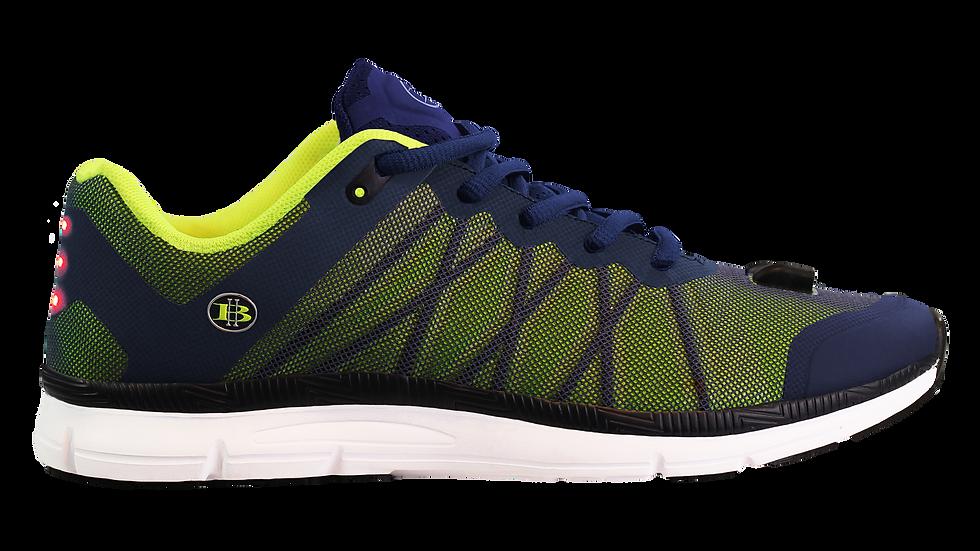Men's-LED Running Shoe-Mesh-Lime-Side 1 view