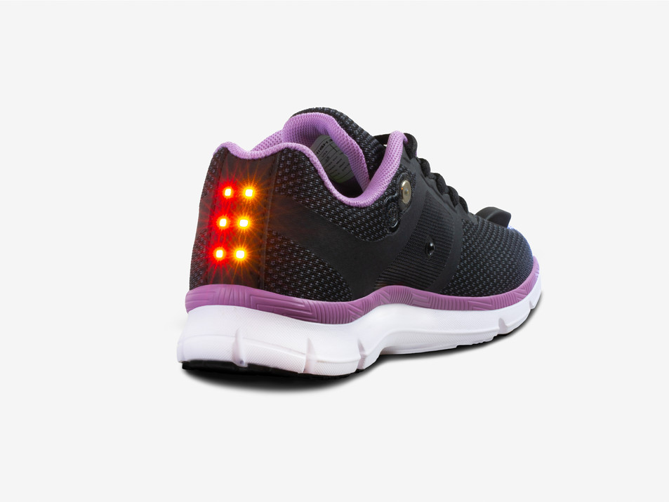Women's Night Runner Shoes-Safety Lights-1