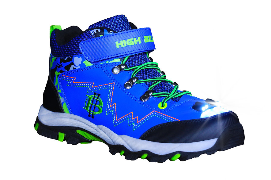 Kids High Beam LED Light Hiking Boot (Blue)