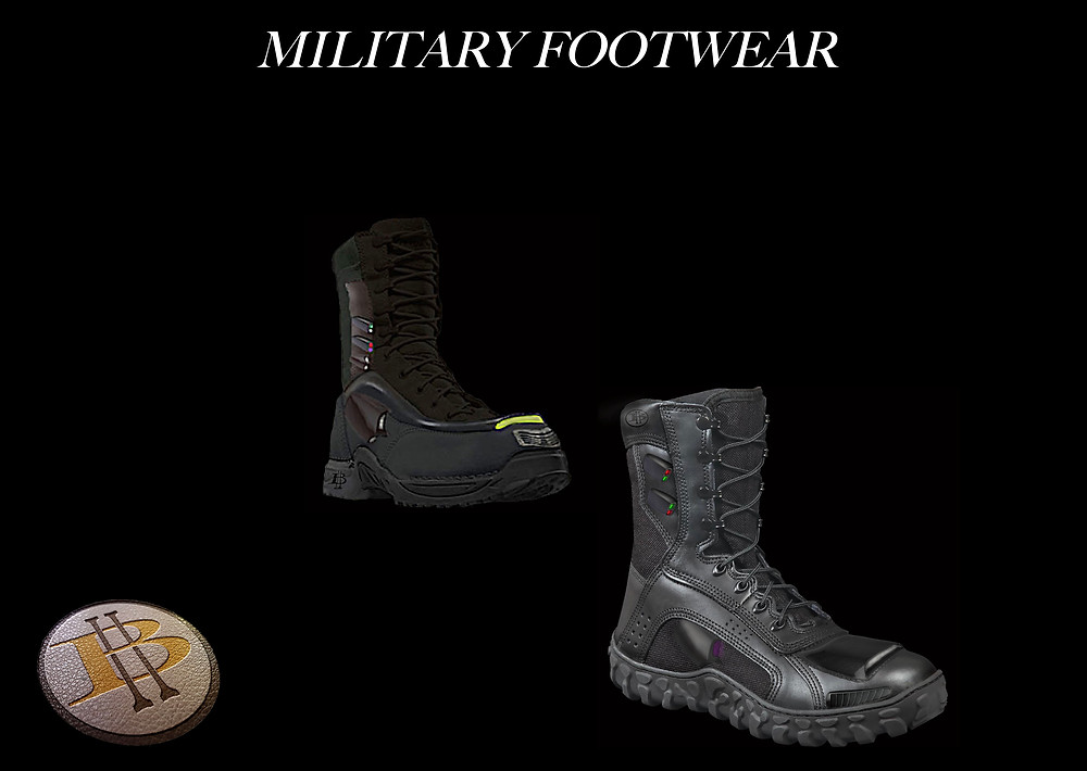 High Beam Shoes Stealth Military Boot with Led's