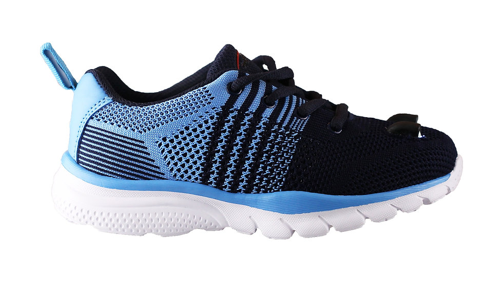 Little Kid's LED Knit Shoes  (Dark Blue)