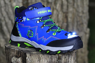 High Beam-Kid's LED Headlight Hiking Boot (Blue)