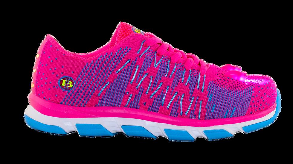 Wave Knit LED Shoes Girls (Pink)