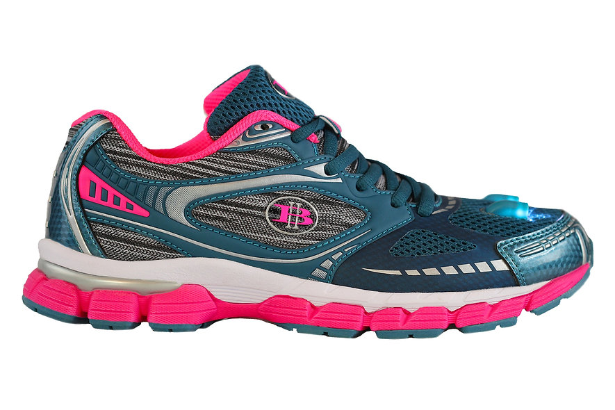 High Beam- Running-light-Womens-Cross-Trainer-shoe-Teal-pink-side 2