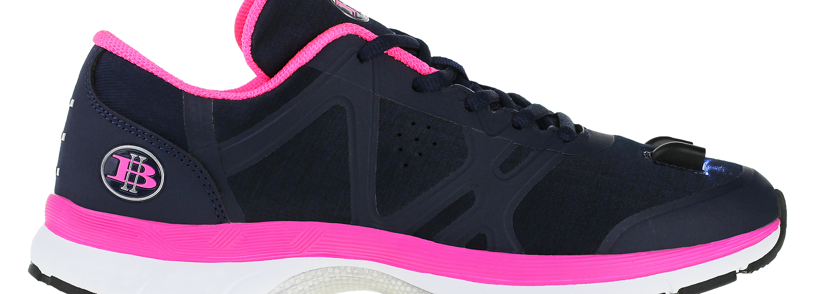Women's LED Walking Shoes -Side View 1 (Blue/Pink)