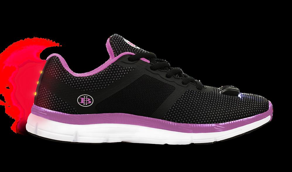 Women's Night Runner LED Light Shoe  (Black/Pink)