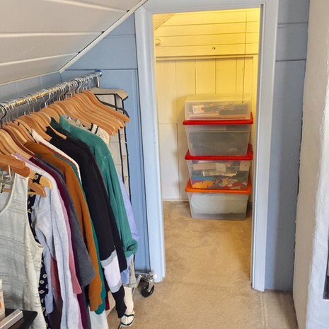 Organized Bedroom Closet After Decluttering