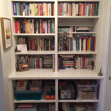Organized Book Storage After Decluttering