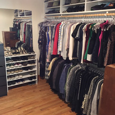 Organized Master Closet After Redesign