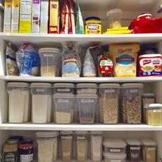 Kitchen Cabinet Food Storage After Organizing