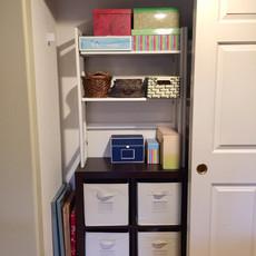 Organized Craft Closet After Redesign - Left Side