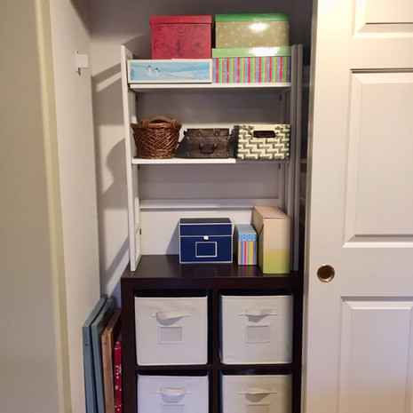 Organized Craft Closet After Redesign - Left Side
