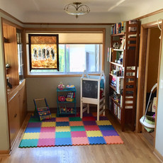 Organized Living Room / Playroom After Redesign