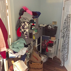 Unorganized Area in Master Bedroom Before Redesign