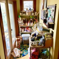 Unorganized Kitchen Nook Before Redesign