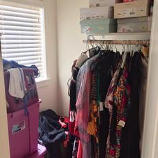 Unorganized Closet Before Redesign