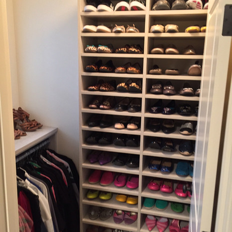 Organized Closet After Redesign