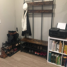 Entryway Drop Zone After Organizing