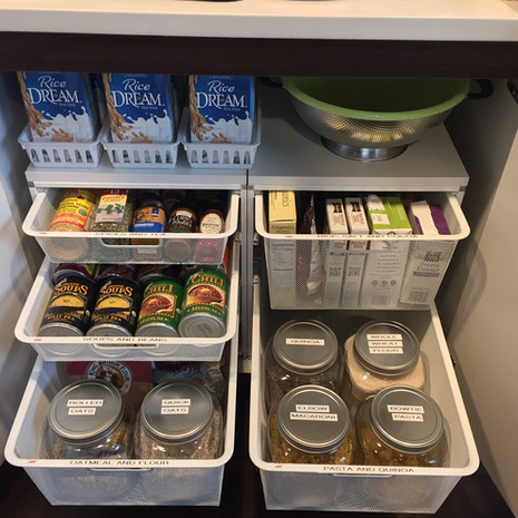 Organized Kitchen Cabinet After Redesign