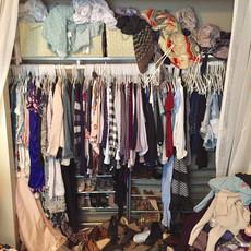 Unorganized Master Reach-in Closet
