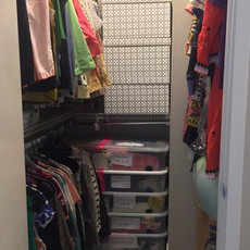 Organized Bedroom Closet After Decluttering