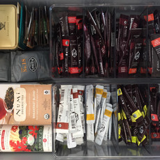 Organized Tea Drawer After Organizing