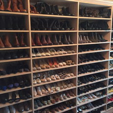 Organized Shoe Closet After Redesign