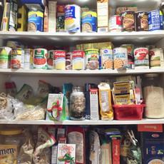 Kitchen Cabinet Food Storage Before Organizing