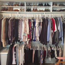 Organized Master Reach-in Closet