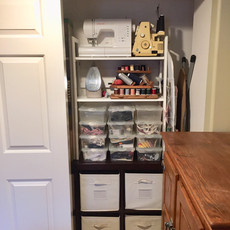 Organized Craft Closet After Redesign - Right Side
