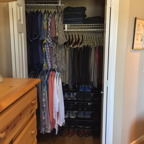 Organized Men's Closet After Redesign