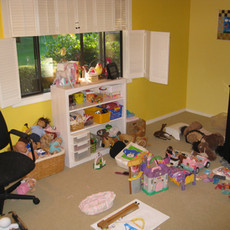 Cluttered Kid's Room Before Organizing