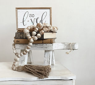 Clay garland with tassel.JPG