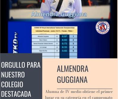 ORGULLO PARA NUESTRO COLEGIO DESTACADA DEPORTISTA NACIONAL
