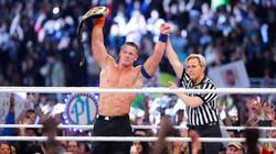 CHUCK ROBINSON WITH WWE STAR JOHN CENA