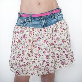 DIY Recycled Denim Project - Summer Skirt