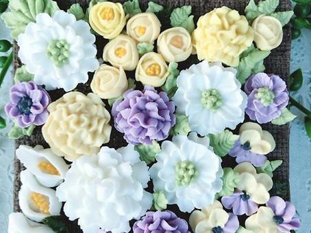 アイシング経験者向け 口金絞りを極めたい人にお勧めのかわいいお花が絞れる2日間集中レッスン