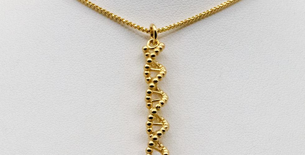 'CODE Tight Atom' Vertical Pendant Necklace