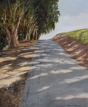 """* Maralyn Miller """"UP THE ROAD"""" Oil 12x18 $975"""