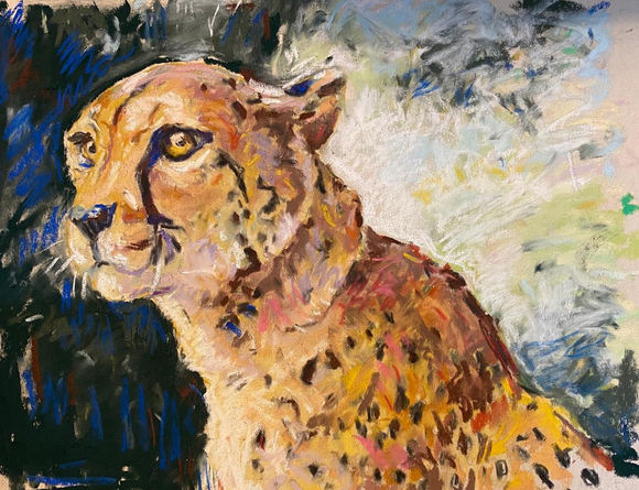"Jude Tolley ""CHEETAH"" Pastel 9x11 $80"