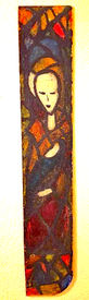 """Louise Webb """"Madonna and Child"""" Stained glass 30x5 NFS"""