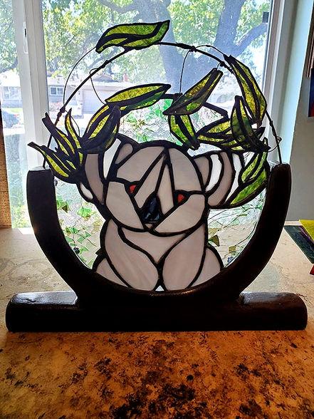 "Gail Lockhart ""KOALA"" Stained Glass 15x15 NFS"