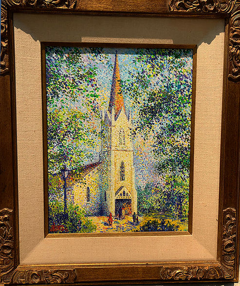 "Carol Brolin ""NATIVITY CHURCH"" Acrylic 24x28 NFS"