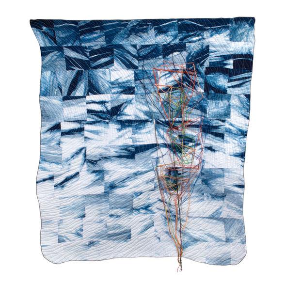 "* Bonnie Jo Smith ""PACIFIC OCEAN DANCING"" Textile 38x33 $825"