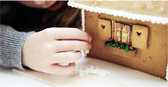 Adding decorations to your gingerbread house