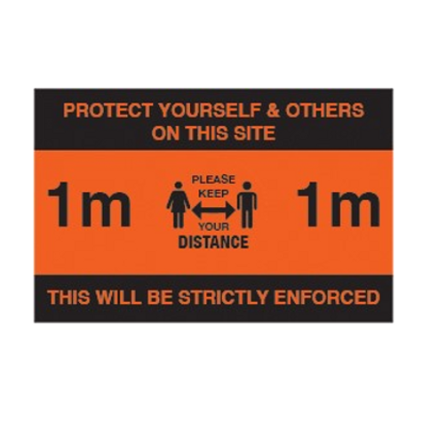 Please Keep 1M Apart Interior Poster - From £1.11 ex VAT