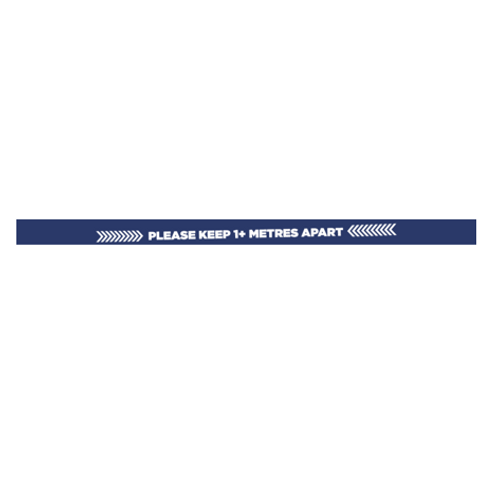 Please Keep 2M Apart Interior Stair Floor Sign - £10.00 ex VAT