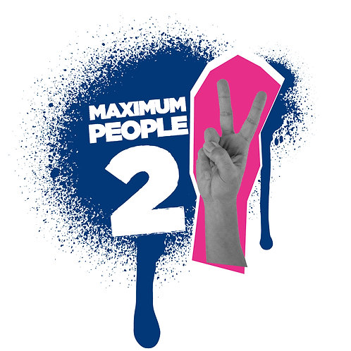 Maximum 2 People in Lift Poster - From £1.11 ex VAT