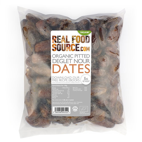 RealFoodSource - Organic Pitted Deglet Nour Dates (1kg)